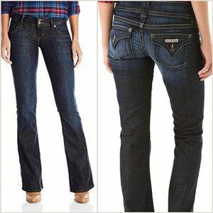Hudson boot cut jeans.